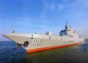 海军055型万吨级驱逐舰首舰南昌舰在青岛入列!