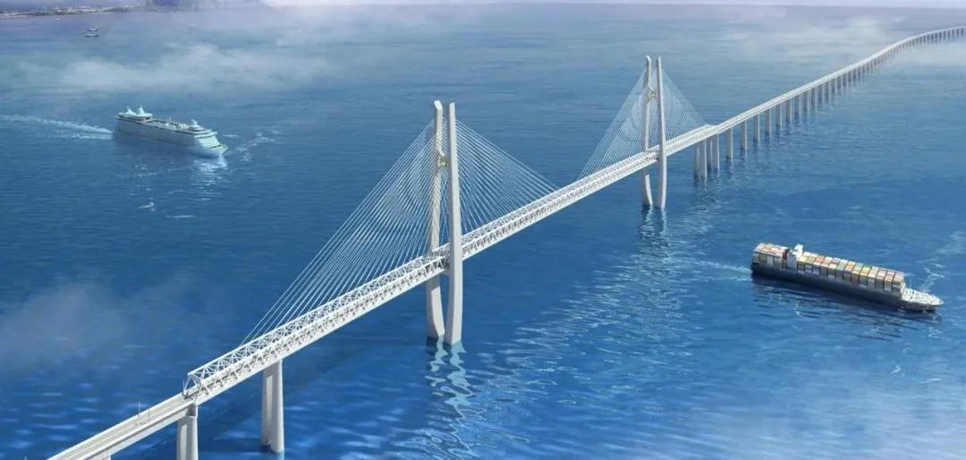 又一超级工程!世界最长高铁跨海大桥完成海上勘探