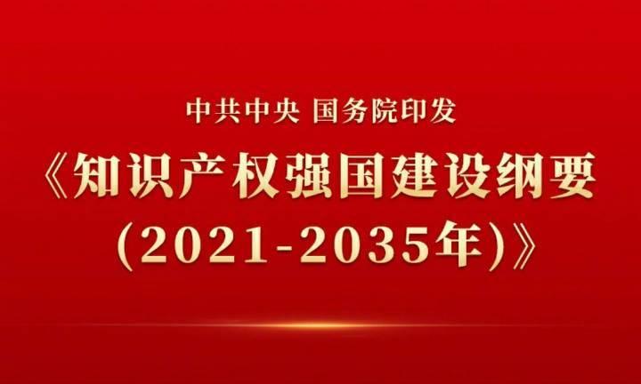 重磅!《知识产权强国建设纲要(2021-2035年)》来啦!